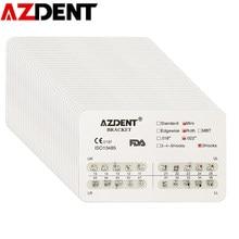 AZDENT – lot de 20 supports métalliques d'orthodontie dentaire, Mini Roth/MBT/edgwise 022/018 crochets 3/345