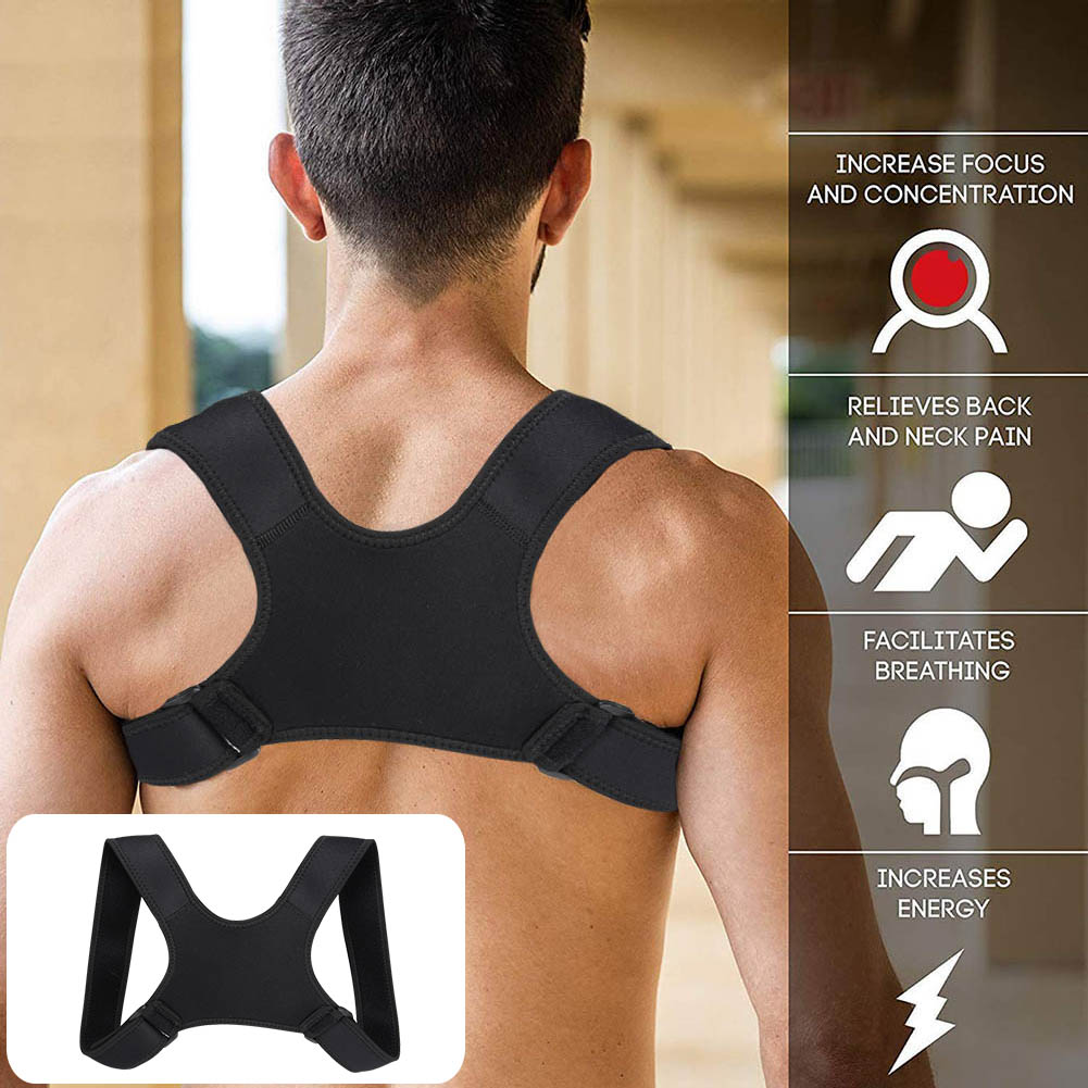 2019 Hot Sale Posture Corrector Fracture Support Back Shoulder Clavicle Spine Lumbar Correction Brace Support Belt Strap A7