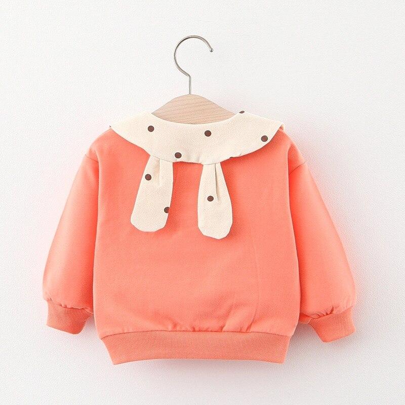 Primavera outono bebê meninas sweatshirts algodão dot