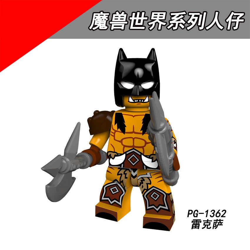 PG8165 Combinado Legoing World of Warcrafting Série Humano Sal Medivh Jaina Lexar Montagem blocos Cérebro jogo do presente das Crianças
