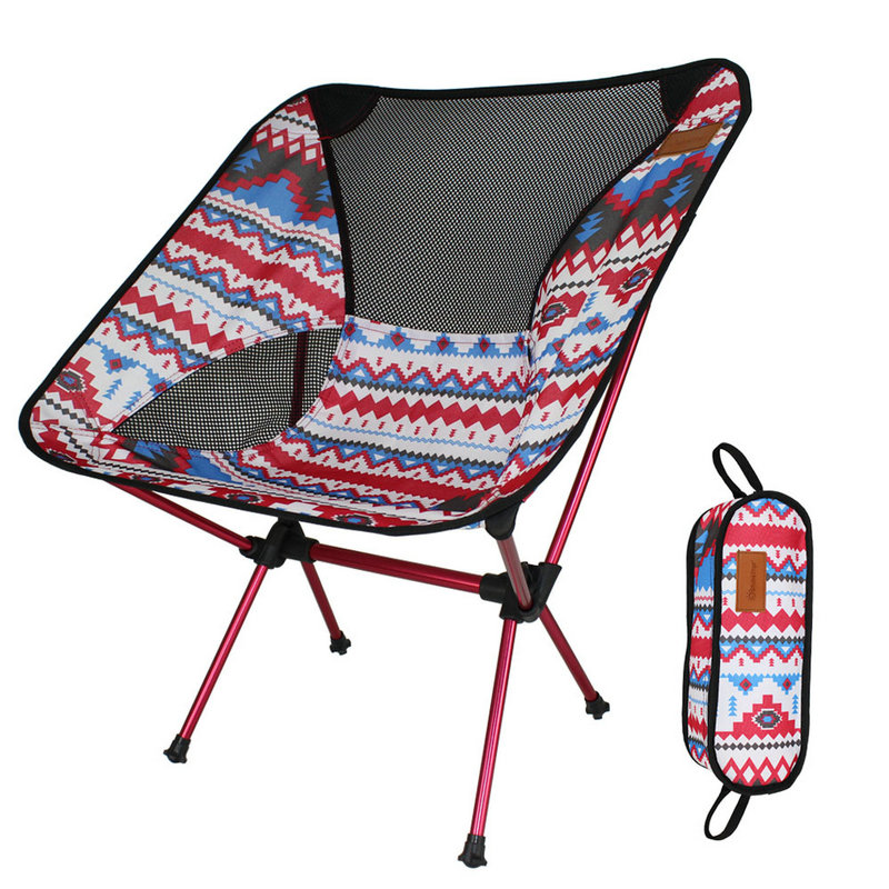 Lightweight Moon Chair Portable Garden 7075 Alu Chair Fishing Seat Camping Folding Furniture Indian Style Outdoor Chair image