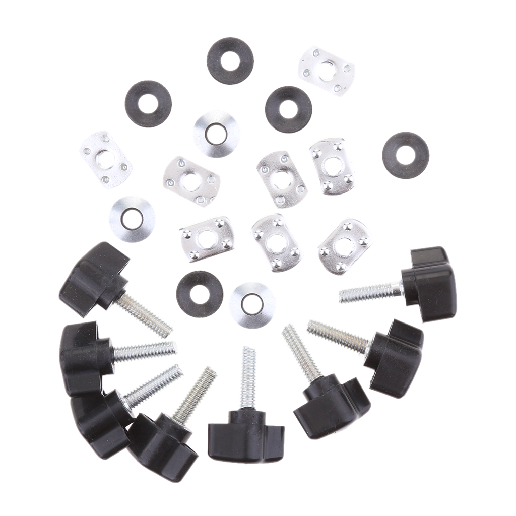 Set of 8 Hard Top Quick Removal Change Kits for Jeep Wrangler YJ TJ JK 1987-2017