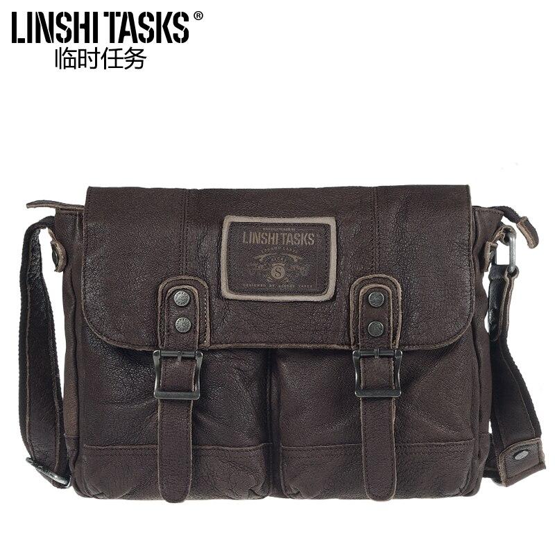 New Style Retro Men's Bag Shoulder Bag zhu pi bao Men's Shoulder Bag Men Leisure Bag Backpack handbag