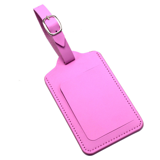 PU Leather Suitcase Luggage Tag Label Bag Pendant Handbag Portable Travel Accessories Name ID Address Tags High Quality 5