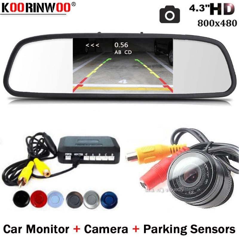 Koorinwoo двухъядерный процессор 10 IR парктроник с камерой 4 Автомобильная камера заднего вида парковочная помощь резервная сигнализация ночног...
