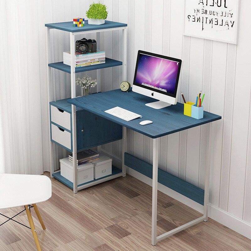 Computer Desktop Table Computer Table Simplicity Small Table Bedroom Minimalist Modern Students Writing Desk Bookshelf Combinati