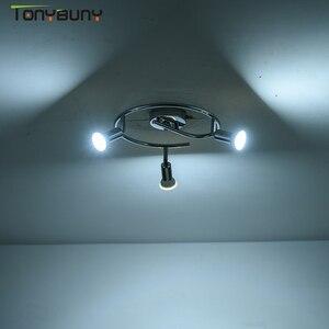 Image 3 - מודרני led נברשת תאורה לסלון חדר שינה אוכל חדר מקורה בית ברק מדרגות נברשת מנורת 3 ראשי rotatable