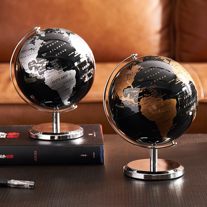 Home Decor Accessories Retro World Globe Modern Learning World Map Globe Kids Study Desk Decor Globe Geography Kids Education