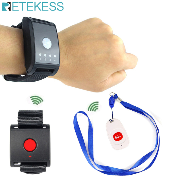 Wireless Paging System SOS Emergency Calling System for Patient the Elderly Kids Nursing home F4411A