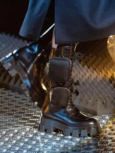 VIISENANTIN Motorcycle-Boots Military-Shoes Pocket Lace-Up Latest-Style Black Handsome