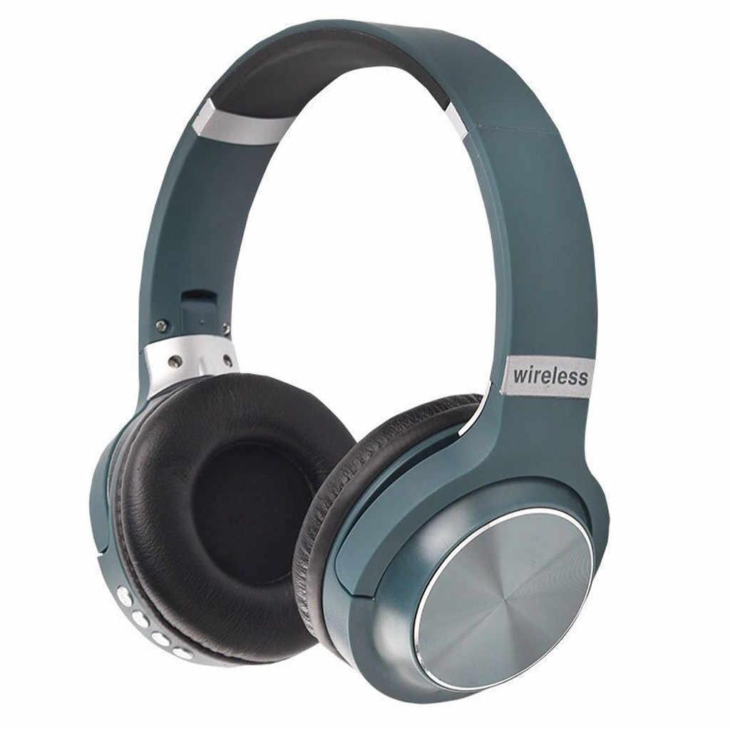 سماعة بلوتوث لاسلكية 4.1 ستيريو على الأذن سماعات قابلة للطي المدمج في هيئة التصنيع العسكري سماعات لاسلكية قابلة للتعديل مع هيئة التصنيع العسكري