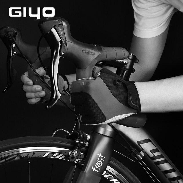 Giyo luvas sem dedos para ciclismo, luva de gel respirável para homens e mulheres para esportes ao ar livre, mtb, corrida de estrada e ciclismo dh 3