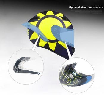 Accessories VISOR glasses and rear spoiler for SL-0700E Full Face Motorcycle Helmet silvering visor full face dual visor motorcycle helmet
