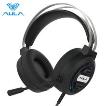 AULA S603 Gaming Headphones Wired Headset Gamer Headphones Deep Bass Stereo Earphone with Microphone for PC Computer PS4 Laptop cheap Balanced Armature CN(Origin) 103dB Line Type up to 32 Ω Sealed Fabric 40mm 38Ω 20 - 20000Hz