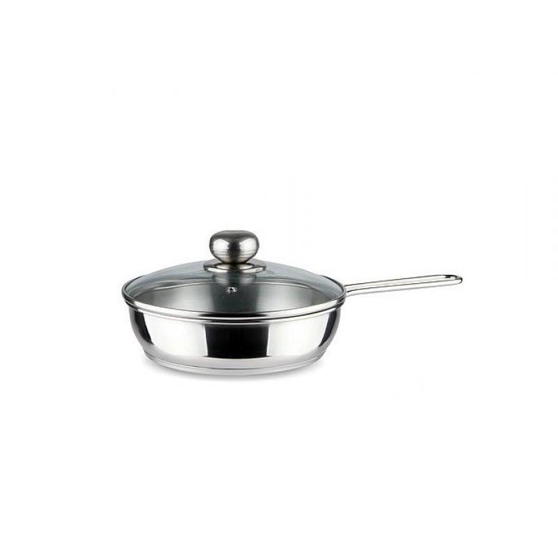 Frying Pan АМЕТ, Classic-Prima, 22 Cm, Glass Cover