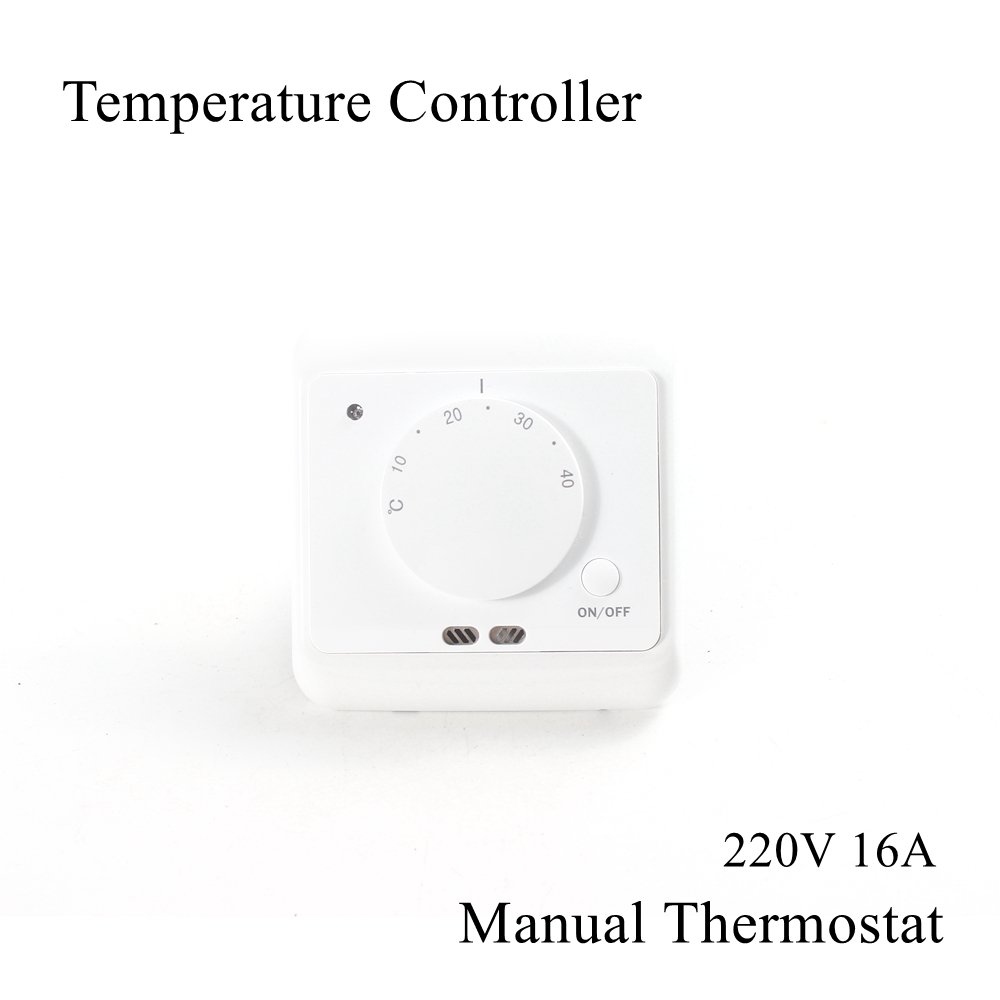 220V 16A Temperature Controller Manual Knob Thermostat Electric Instrument Floor Warming Underfloor Heating Room Warm System
