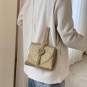Image 2 - Luxy Mond Frauen Leder Handtasche Luxus Diamant Kupplung Geldbörse für Braut Partei Schulter Tasche mit Herz Kristall Dekoration ZD1490