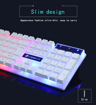 2020 Combo PC Gamer LED Gaming Keyboard And Mouse Set Wired Keyboard Gamer Keyboard Illuminated Gaming Keyboard Set For Laptop 2