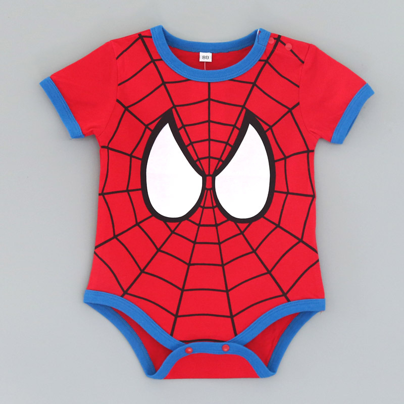 100% Cotton Newborn Baby Summer Baby Girl Clothes Baby Boy Rompers Baby Rompers Cartoon ropa bebe Clothing Short Sleeve 6