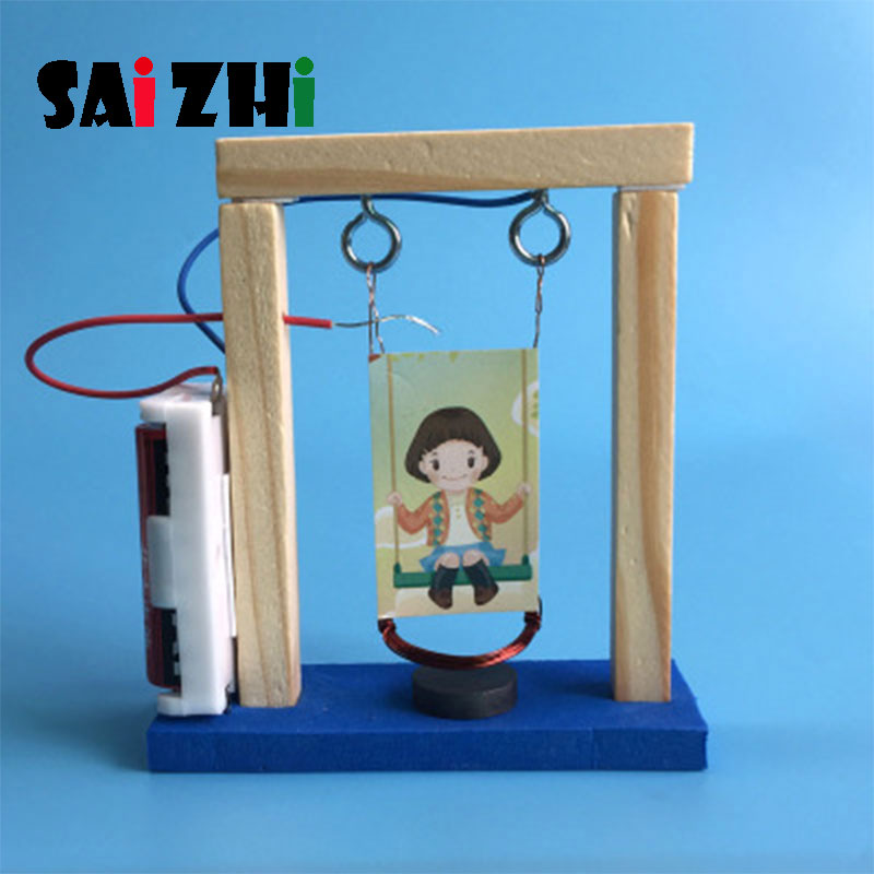 Saizhi Model Toy Diy Electric Swing Developing Intellectual STEM Science Toy  Physics Experiments Birthday Gift SZ3260