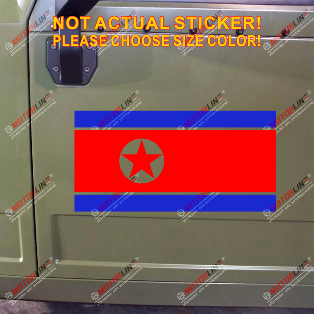 Flag of North Korea Decal Sticker Car Vinyl pick size no bkgrd image