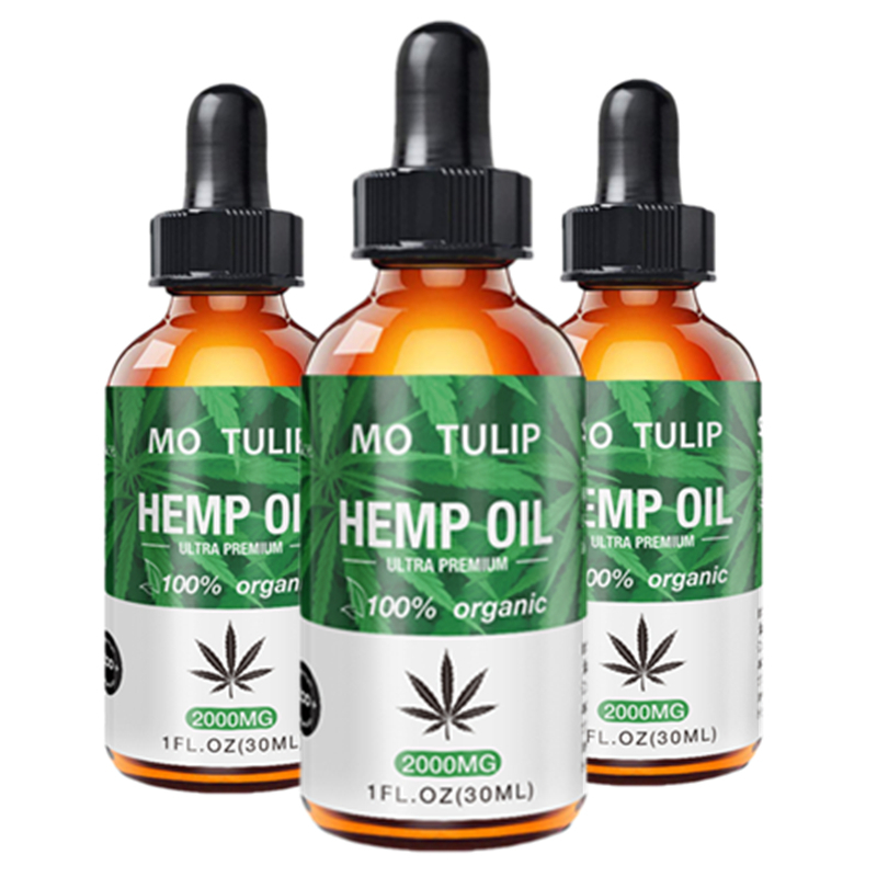 100% Organic Essential Oil 2000MG Hemp Seed Oil Herbal Body Relieve Anxiety Stress Cbd Oil Skin Care Help Sleeping DROP SHIP image