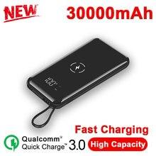Wireless Ultra-large Capacity 30000mAh Mobile Power Bank Sli