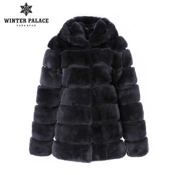 Trends rex rabbit coat O-Neck Rex Rabbit Fur new winter products real rex rabbit fur coat Thick Warm Fur real rex rabbit fur - DISCOUNT ITEM  50% OFF All Category