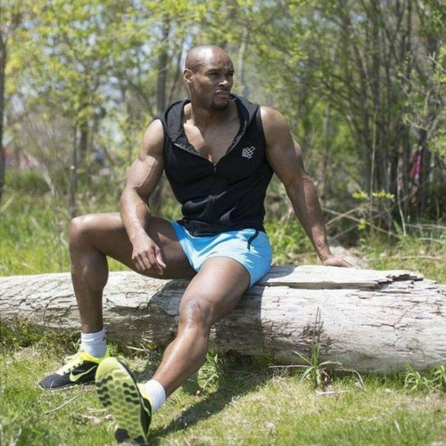 Men's Quick-drying Fitness Swimming Trunks Swimwear Sports Gym Run Shorts Casual Summer Beach Board Shorts 4