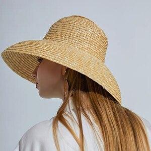 Винтажная соломенная шляпа от солнца во французском стиле «Хепберн», сетчатая соломенная шляпа от солнца и морского пляжа, женская летняя б...
