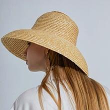 Vintage French Hepburn Mesh Primary Color Straw Hat Sun Seaside Beach Hat Female Summer Big Sun