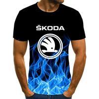 Maglietta Skoda estiva da uomo 2021 maglietta da uomo in cotone xxs-6xl di alta qualità da uomo e da donna