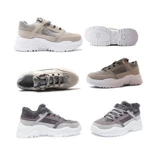 Image 3 - Buty damskie pluszowe śniegowce Faux buty zamszowe casualowe buty sportowe zimą lub jesienna koronka buty damskie WJ002
