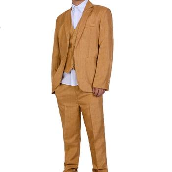 (Jacket+Pant+Vest) Slim Suit Male Spring Autumn Thin Section High-end Business Suit Jacket Pants Suits Wedding Men Blazers 2019