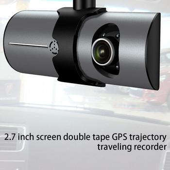 2.7-Inch Screen Dual Recording With Gps Track Driving Recorder R300 Dual-Lens Vehicle Front Driving Recorder
