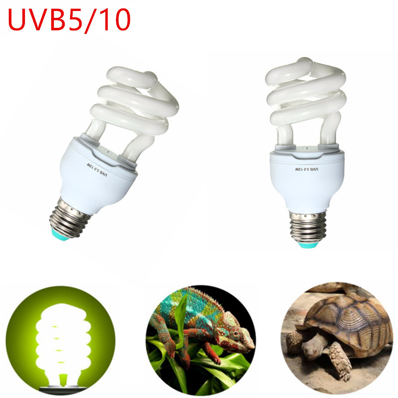 13W UVB 5/10 Reptile Light E27 Bulb UV Calcium Lamp Tortoise Snake Pet Heating Cold White Light Bulb Support Dropshipping