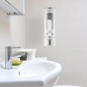 Image 5 - 400ML 800ML Wall Mount Soap Dispenser Lotion Pump Shampoo Shower Gel Dispenser Hand Sanitizer Lock Design For Bathroom Kitchen