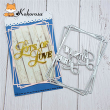 Kokorosa Cutting Dies Metal Dies Irregular Frame Die Scrapbooking Album Card Making Embossing Stencil Diecuts Decoration кофемолка zimber 150w