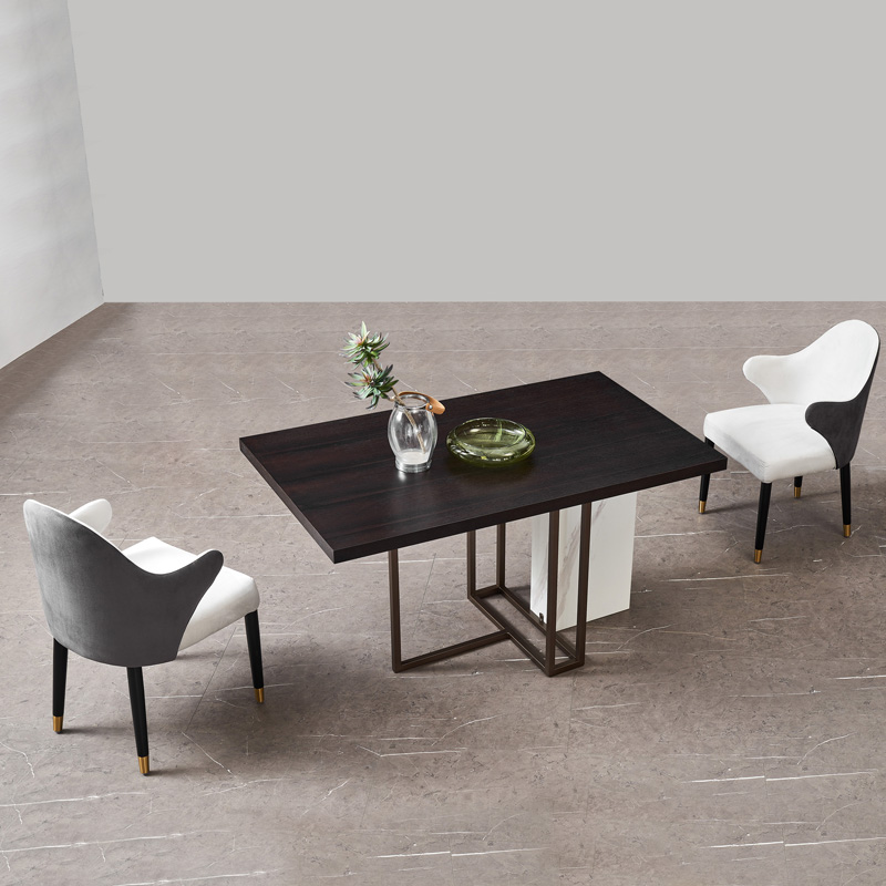 Licht Luxus Esszimmer Stuhl Casual Hause Leder Zurück Massivholz Weiche Tasche Nordic Moderne Minimalistischen Net Rot Ins Hocker Restaurant - 4