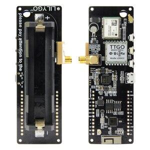 Image 5 - LILYGO®TTGO t beam V1.1 ESP32 433/868/915/923Mhz WiFi Bluetooth ESP32 GPS NEO 6M SMA LORA 32 18650 uchwyt baterii z SoftRF