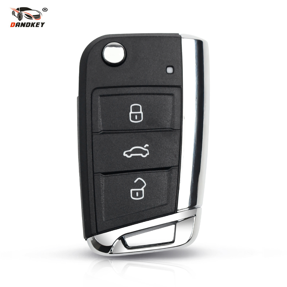 Dandkey Modified 3 Buttons <font><b>Remote</b></font> <font><b>Key</b></font> Flip Car <font><b>Key</b></font> Case For Volkswagen VW <font><b>Golf</b></font> <font><b>7</b></font> 4 5 mk4 6 For Skoda Octavia Folding <font><b>Key</b></font> Shell image