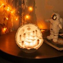2019 새로운 Dropship 야간 조명 3D 인쇄 문 성 램프 로켓 램프 애호가를위한 선물로 문 램프처럼