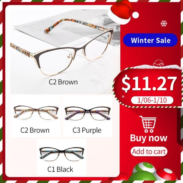 Metal Cat Eye Eyeglasses  1