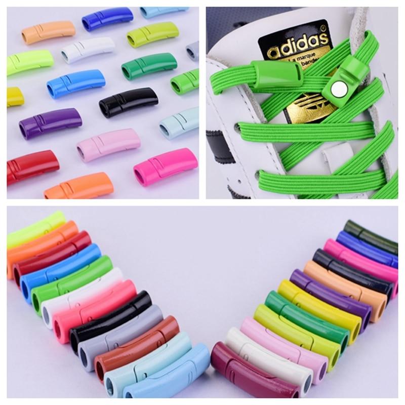 1Pair Shoelace Buckle Metal Shoelaces Magnetic Buckle Accessories Metal Lace Lock DIY Sneaker Kits Metal Lace Buckle 24colors
