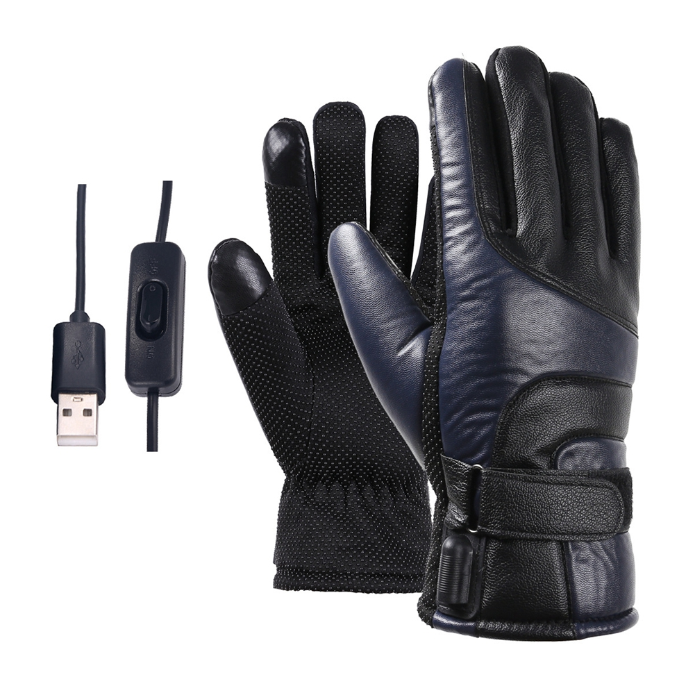 New Men Women Adjustable Electric Heating Gloves USB Charge Winter Warm Sport Gloves Gift