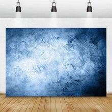 Laeacco gradiente azul cor sólida fotografia backdrops abstrato grunge retrato recém nascido foto fundos grávida photocall