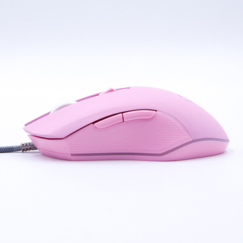 Pink Computer Mouse Colorful Backlit Gaming Mouse Optical Wired Mouse Fashion Sailor Moon Mouse Girl Women Silent Mouse 2400DPI 4