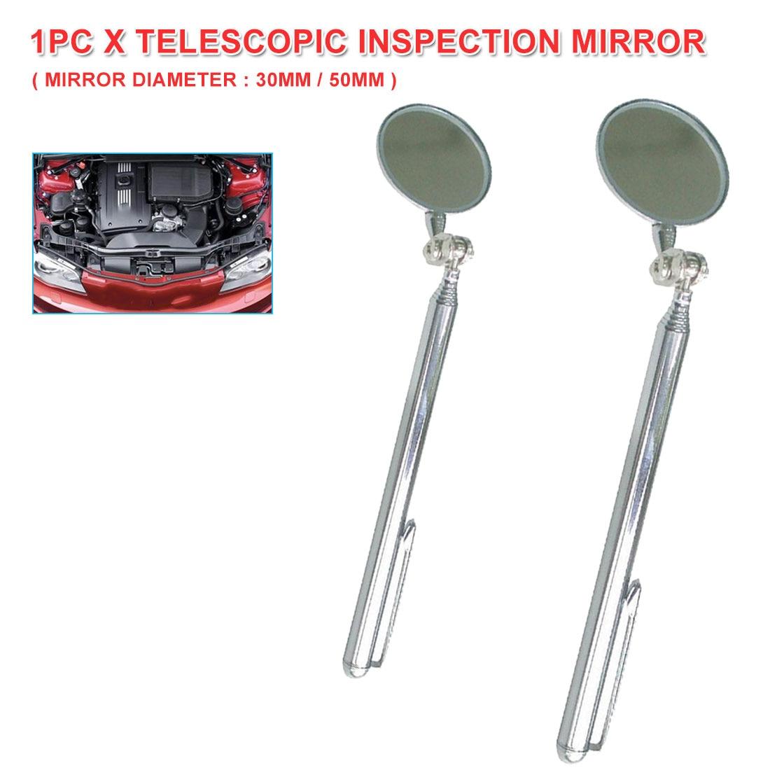 Car Maintenance Inspection Mirror 30MM /50MM Diameter Folding Telescopic Reflector Welding Chassis Inspection Mirror Inspection