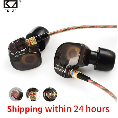 KZ ATE ATR HD9 ZS3E Copper Driver HiFi Sport Headphones In Ear Earphone For Running With Microphone Headset music Earbuds Pakistan