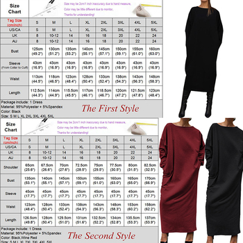 VONDA Women Autumn Long Dress Fashion Round Neck Long Sleeve Shirt Dress 5XL Vestidos Plus Size Robe Femme Women's Tunics 6